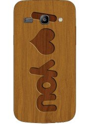 Coque I love you en bois