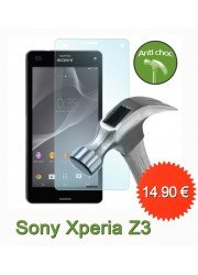 Sony Xperia Z3 : Protection en verre trempé