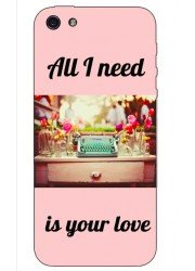 Coque All I need is your love rose vintage
