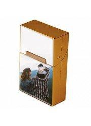 Cache packet de cigarettes personnalisé en aluminium couleur or