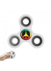 Hand spinner personnalisé anti-stress blanc