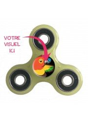 Hand spinner personnalisé 3 branches vert clair