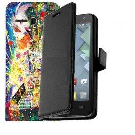Housse portefeuille personnalisée Alcatel Pop D5