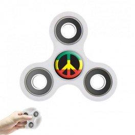 Hand spinner personnalisé anti-stress blanc