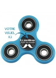 Hand spinner personnalisé 3 branches turquoise