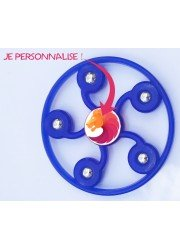 Hand spinner personnalisé cercle 5 branches bleu
