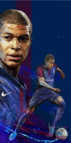 Coque Foot M\'Bappe portrait PSG