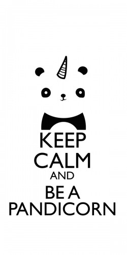 Coque Keep Calm and be a Pandicorn
