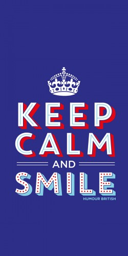 Coque Keep Calm and Smile