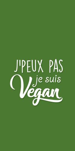 Coque Je peux pas je suis Vegan
