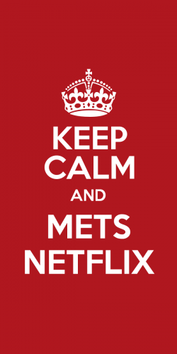 Coque Keep Calm and Mets Netflix