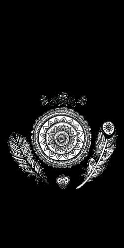Coque Mandala Plumes
