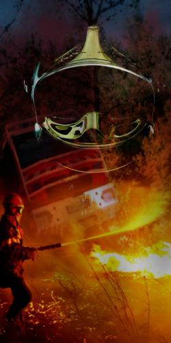 Coque Pompier Casque Flamme