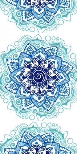 Coque Mandala Fleur Bleue