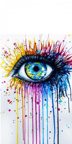 Coque Oeil Peinture - Coque-Design