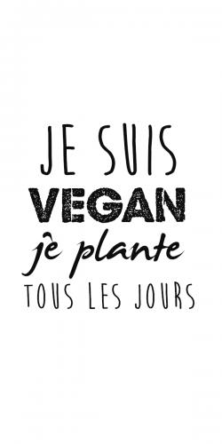 Coque Je suis Vegan je plante tous les jours