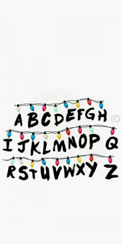 Coque Stranger Things Guirlande Alphabet