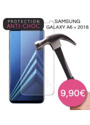 Protection en verre trempé pour Samsung Galaxy A6 + 2018