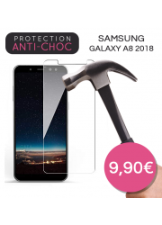 Protection en verre trempé pour Samsung Galaxy A8 2018