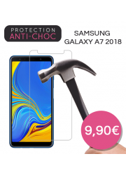Protection en verre trempé pour Samsung Galaxy A7 2018