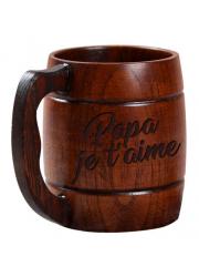 Mug en bois personnalisé à graver