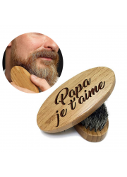 Brosse à barbe en bois personnalisée à graver