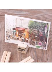Porte-photo cube en bois à graver