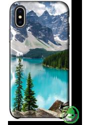 Coque BIO iPhone XS personnalisée (noire)