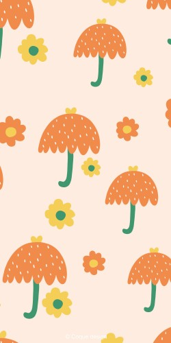 Coque artiste parapluie et nature