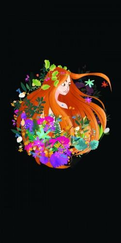 Coque Illustration Fille et Fleurs