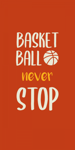 Coque Basket Ball Never Stop