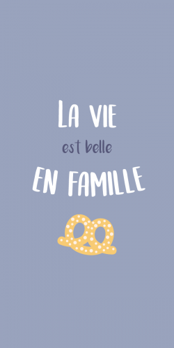 Coque La vie est belle en famille