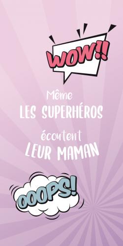 Coque Même les superhéros écoutent leur Maman