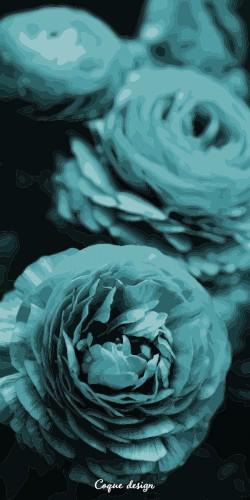 Coque Fleur Bleue
