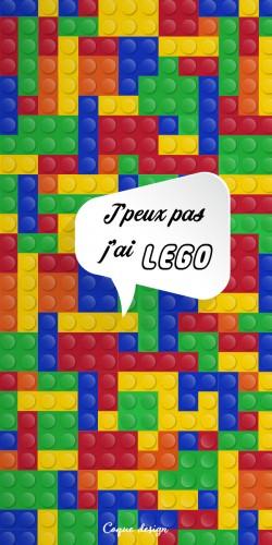 Coque J\\\'peux pas j\\\'ai LEGO