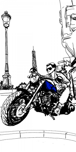Coque motard à Paris 1