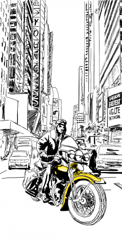 Coque motard à New York