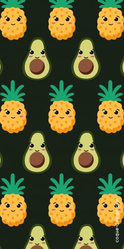 Coque Avocat et Ananas