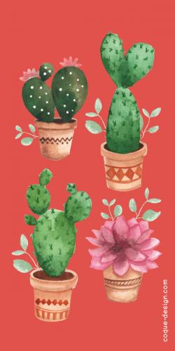 Coque plante Cactus