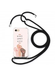 Coque cordon collier personnalisable iPhone 6 plus