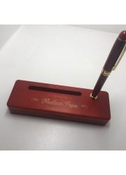 Boîte porte stylo en bois personnalisé à graver