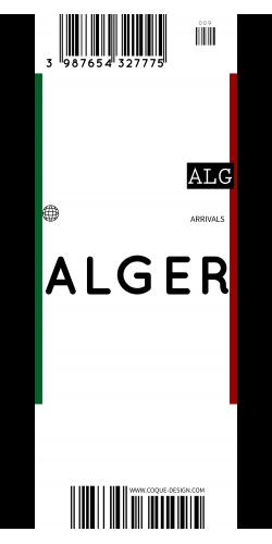 Coque Alger voyage