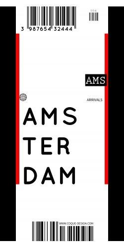 Coque Amsterdam voyage