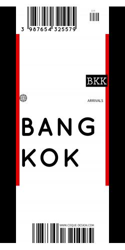 Coque BANGKOK voyage