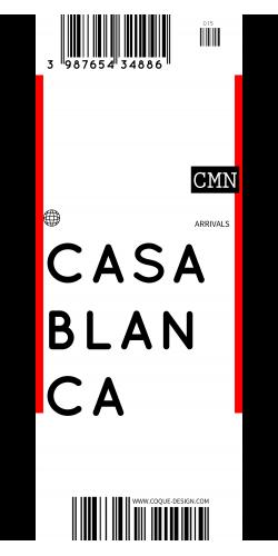 Coque Casablanca voyage
