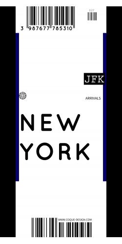 Coque New York voyage