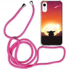Coque cordon iPhone XR personnalisée