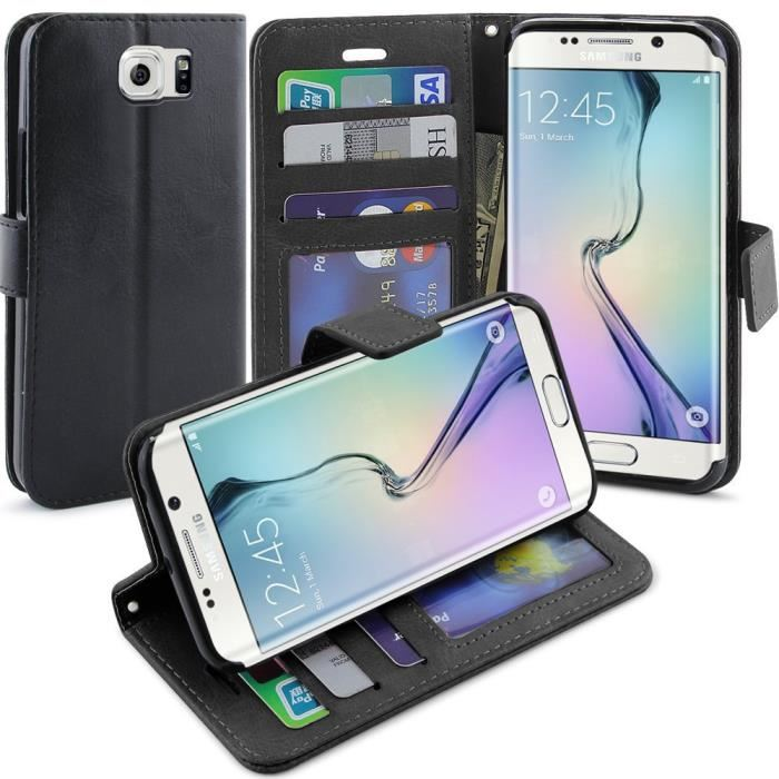 coque galaxy s6 edge portefeuille
